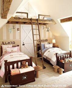 The Kids' Loft | 10 Design Ideas For Your Dream Loft childrens den,childrens bedroom,single bed,loft steps,