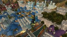 Beautiful Stormwind with the different colored roofs for each district!  http//tinkshighjinks.com/back-to-my-roots