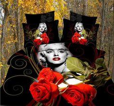 2016 Hot 3d Print Marilyn Monroe Bed Set Bedding Sheet Duvet Cover Pillowcase