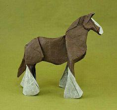 More origami horses Origami And Quilling, Origami And Kirigami, Paper Crafts Origami, Origami Art, Oragami, Architecture Origami, Origami Horse, Origami Models, Paper Magic