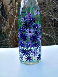 Pintadas dispensador del jabón del plato botella por GlassGaloreGal
