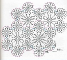 Crochet patterns - Peach flower - Diagram
