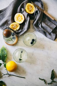 sweetoothgirl:  Thyme Lemonade  - Check more recipes like this at http://forkonfire.com - #desserts #cooking #food #sweet