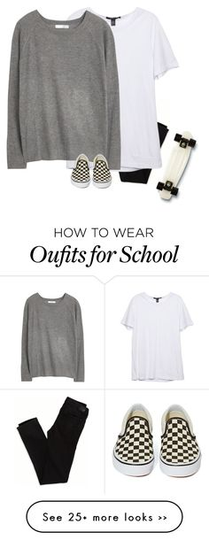 """""""No school tomorrow!!"""" by southerbelle549 on Polyvore featuring American Eagle Outfitters, MANGO, Vans and Quiksilver"""