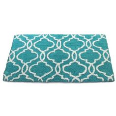 Dena Home Turquoise Tangiers Bath Rug (40 CAD) ❤ liked on Polyvore featuring home, bed & bath, bath, bath rugs, turquoise, turquoise bath rugs, turquoise bathroom rugs and dena home