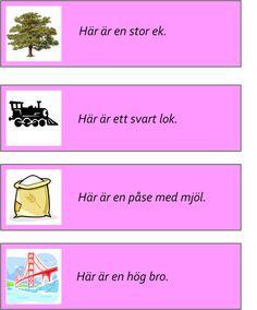 montessorimaterial - Swedish Language, Speech Therapy, Montessori, School Ideas, Barn, Learning, Tips, Infants, Pictures