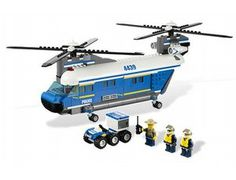 The Heavy-Lift Helicopter from the Lego City collection - a great selection of Lego construction sets at Wonderland Models.    One of our favourite sets in the Lego City Police range is the Heavy-Lift Helicopter.    The Heavy-Lift Helicopter flies over the forest treetops in search of the pesky robbers. Help the pilots with the forest policeman on his ATV! It won't be long before they track down those pesky robbers. Includes 2 pilots and a forest policeman minifigure.