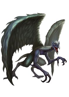 Demon, Vrock (from the fifth edition D&D Monster Manual). Art by Conceptopolis.
