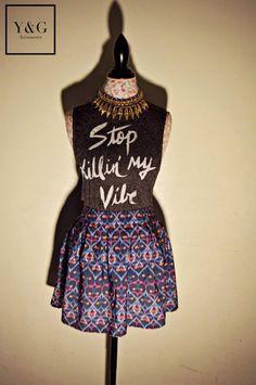 Collar - $25dlls Blusa - $8dlls Falda - $15dlls  https://www.facebook.com/yandg.accessories #collar #blusa # falda #ygaccessories