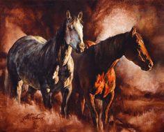 """Friendship"" oil, 16 x 20 ~ Chris Owens Cowboy Horse, Cowboy Art, Chris Owen, Horse Sketch, Horse Paintings, Nerf Gun, Horse Drawings, Southwest Art, Horse Farms"
