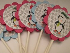 Black Friday Sale Cupcake toppers  Snowman  by kriskropmemories, $7.44