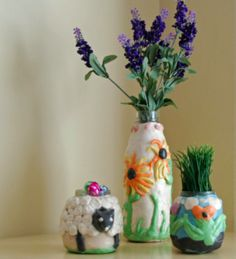 Saltdough Vases and Planters