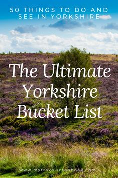 The Ultimate Yorkshire Bucket List! Yorkshire is one of the UK's most beautiful places but what can you do and see there? In this guide find out the 50 things to do and see in Yorkshire. Yorkshire UK via 811985007792249515 Visit Yorkshire, Yorkshire England, Yorkshire Dales, North Yorkshire, Cornwall England, Instagram Inspiration, Travel Inspiration, Uk Bucket List, Uk Destinations