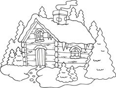 Looking for a Coloriage Chalet Noel Imprimer. We have Coloriage Chalet Noel Imprimer and the other about Coloriage Imprimer it free. Christmas Cards To Make, Christmas Colors, Christmas Art, Handmade Christmas, Colouring Pages, Adult Coloring Pages, Coloring Books, Embroidery Patterns, Hand Embroidery
