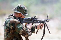 The legendary M60 machine gun