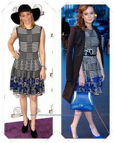 Un vestido de Alexander McQueen Resort 2015 lo llevo Elisabeth Blanks a un evento; después se lo vimos a Brie Larson  en el  The Tonight Show Starring Jimmy Fallon.
