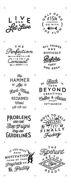 These are all great uses of typography that I can use as inspiration. From these I can take ideas of how to arrange text and what sort of elements can be used to unify and enhance the overall product.