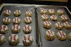 Baseball Rice Krispie Treats!!  Lance will love this for 3rd birthday
