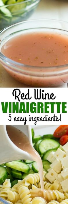 This is the EASIEST salad dressing to make-bar none. 5 pantry staples and you have a delicious, healthy red wine vinaigrette recipe for salads and sandwiches.