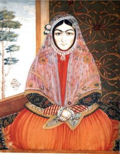 Painting Qajar era, Persia Date: 1843 Artist: Sani ol-Molk Materials and Techniques: watercolor on paper.