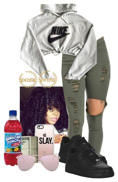 """""""Dope"""" by my-savage-self ❤ liked on Polyvore featuring NIKE, Casetify and Le Specs"""