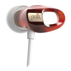 Polk Audio Nue Voe In-Ear Headphones - Tortoise #polkaudio #headphones #nuevoe #indie #style #music