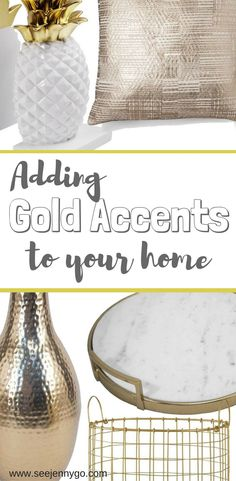 Adding Gold Accents to your Home