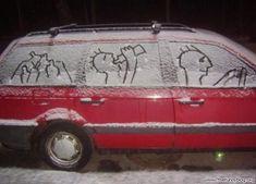 funny-snow-art-on-car.jpg 586×422 pixels