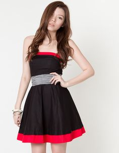 emily contrast dress @ Club Couture, $66