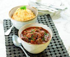 Receita carne estufada com puré de batata e cenoura por Sandra Lara - Categoria da receita Pratos principais Carne