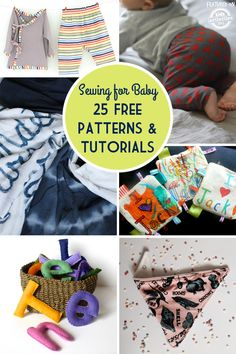 Sewing For Kids Easy {Simple Sewing for Baby} 25 FREE Patterns and Tutorials - Sewing for baby is extra fun with these simple free tutorials! Sewing Patterns Free, Free Sewing, Free Pattern, Pattern Sewing, Pattern Ideas, Baby Patterns, Sewing Baby Clothes, Baby Sewing, Sew Baby