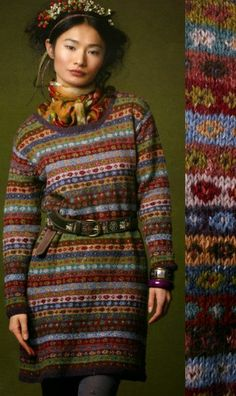 Une partie du monde en couleur de Kaffe Fasset, un génie de l'art textile qui a tout expérimenté: tapisserie, tricot, patchwork, broderies ...