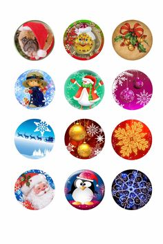 Christmas Tree Bottle Cap Ornament Template plus 73 new free Christmas images. | Digital Crafts Portal