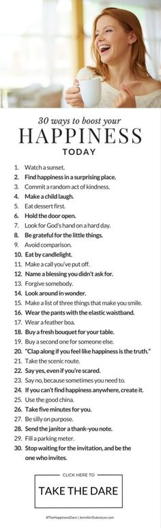 30 Ways to Boost Your Happiness Today - Jennifer Dukes Lee Spiritual Guidance, Spiritual Growth, I Choose Happy, Choose Joy, Love Dare, Proverbs 31 Woman, Kids Laughing, Break Free, Faith In God