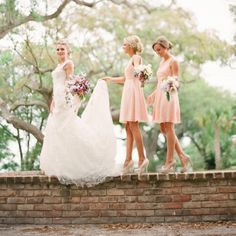Bridesmaids Spring romantic  classic pink Charleston South Carolina