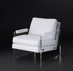 Luca Fabric Chair, Brushed Belgian Linen Cotton-Sand