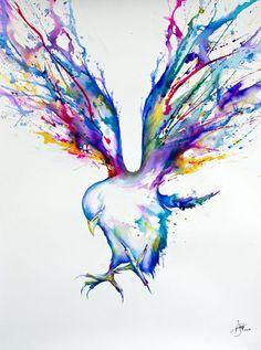 Dit is een heel mooi kunstwerk, er is ook weer gewerkt met veel kleuren. De vleugels van de vogel zijn prachtig gemaakt in de verschillende felle kleuren.