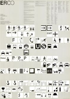 "Otl Aicher, poster for pictograms ""Traffic, Car service, Transport"", Erco Lighting Lüdenscheid, 1976"