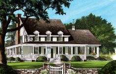 Country Farmhouse Southern Elevation of Plan 86245