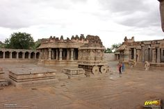 The magnificent Vithala temple courtyard,  #Hampi #Karnataka