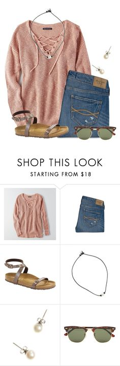 """Merry Christmas!!!!! "" by flroasburn on Polyvore featuring American Eagle Outfitters, Abercrombie & Fitch, Birkenstock, J.Crew and Ray-Ban"