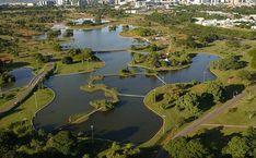 Vista aérea do Parque da Cidade -  Brasília/DF - Brasil