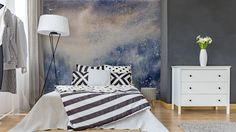 Abstract texture snowy blizzard winter watercolor painted. Wall Mural - Vinyl ✓ Easy Installation ✓ 365 Day Money Back Guarantee ✓ Browse other patterns from this collection!