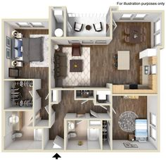 Galloway Floor Plan 1191 sq ft http://www.gatewayat2534.com/