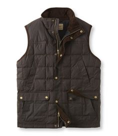 Bean's Upcountry Waxed-Cotton Down Vest - LL Bean Intl