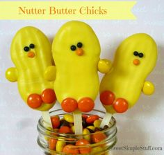 Nutter butter frosting covered chick pops