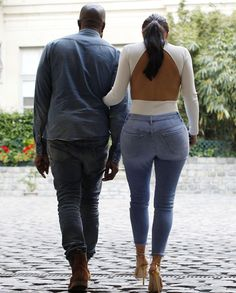 May 18, 2014 - Kim Kardashian & Kanye West getting ice cream in Paris.
