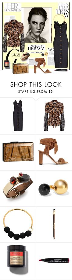 """""""Her Way..."""" by sue-mes ❤ liked on Polyvore featuring Cushnie Et Ochs, Rodarte, Rauwolf, Jimmy Choo, Marni and Sisley"""