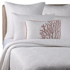possible bedding for the master bedroom. accent with coral pillows and throw blanket.