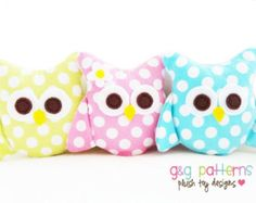 Owl Sewing Pattern - Mini Owls (Party Favors/Ornaments/Baby Mobile) - PDF